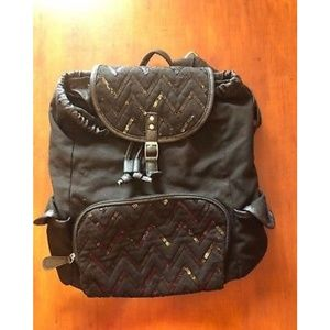 Other - Backpack Sequin Zig Zag Black 15 x 12